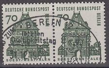 Berlin 248 w.P. gest. Deutsche Bauwerke 1964 waagerechtes Paar  Vollstempel