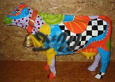 KUH mit GLOCKE KUNSTBEMALUNG FANTASTICO Garten DEKO Figur Skulptur Tier Werbung