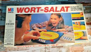 Wort-Salat MB Spiele 1977 Ein Spiel für schnelle Denker mit viel Fantasie