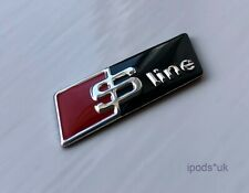 S LINE STEERING WHEEL SELF ADHESIVE BADGE BLACK AUDI A1 A3 A4 A5 A6
