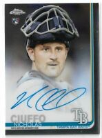 2019 Topps Chrome Baseball Rookie Autograph Nicholas Ciuffo Tampa Bay Rays