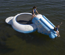 Giant Inflatable Water Trampoline Bouncer for Lake Pool Kid Rave Sport NO SLIDE