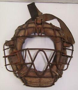 Vintage Baseball Spitter Catchers Mask Original Old Catcher NO RESERVE !