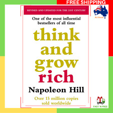 Think And Grow Rich By Napoleon Hill Paperback Book NEW FREE SHIPPING