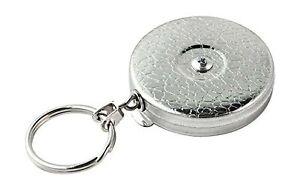 KEY-BAK Original Retractable Key Holder with a Chrome Front, Steel Belt Clip,...
