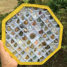 78 Species Of NATURAL Mineral Samples Quartz Crystal Specimen Collection Box-F2