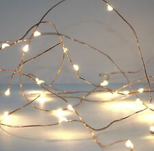 5m Copper Wire 50 LED String Micro Fairy Lights Warm White for Christmas New