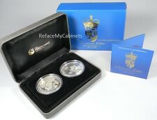 Her Majesty Queen Elizabeth Ii - Diamond Jubilee 2012 1Oz Silver 2-Coin Set