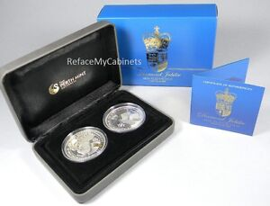2012 Perth Mint Queen Eizabeth II - Diamand Jubilee Silver 2 OZ COIN SET