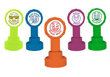 5 Self-inking Teacher Emoji Reward Stamp Set - Make Marking Work Quick & Easy
