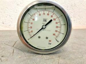 Nuova Fima Dial Indicator Pressure Gauge 0-10 Bar / 0-140 Psi 99-602-1189