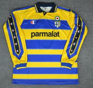 Parma 1999 2000 Crespo Home long sleeve Retro Jersey Soccer Shirt