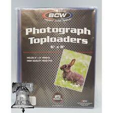 25 BCW 6x8 Photo Print Document Toploader Holder Plastic Rigid Case Standard