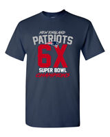 Super Bowl LIII 53 Champions New England Patriots Custom T Shirt  6X 6-Time New