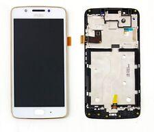 Motorola Moto G5 XT1677 XT1670 Touch Digitizer LCD Screen Assembly Frame White