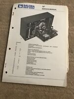 Salora 1F Service Manual For Television