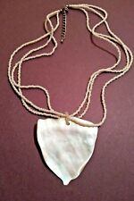 SHELL Pendant Necklace In Silver Tone