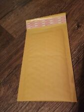 Lot Of 10 8x4 Padded Bubble Envelopes Mailing Adhesive Strips Manila Brown 8.