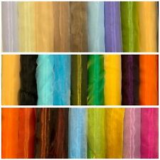 Organza Fabric Uni Decor Clothing Scarf Carnival per Metre New