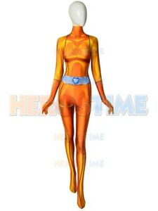 Totally Spies! DyeSub Printing Woman Cosplay Costume Lycra Spandex Zentai Suit