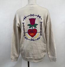 Obey Women's Crew Sweatshirt Have Mercy Natural Size M NWT Shepard Fairey Heart
