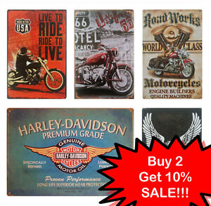 NEW Vintage Motorcycle metal plaque - Retro tin sign for Garage, Bar, Cafe, Pub