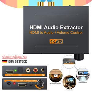 HDMI Stereo Audio Extractor Konverter 4K 60Hz Splitter zu Optisch SPDIF Toslink