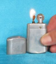 Antique 1920's French Tax Stamped Plain Aluminium Lighter.
