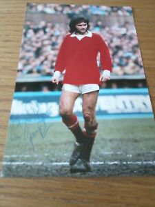 """Hand signed, George Best photograph, 6"""" x 4"""""""