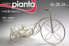 BICICLETTA BICI PORTAVASO PIANTA H34*56*28 CM METALLO BIANCO IRO 658013