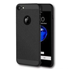 iPhone 8 Breathable Back Cover. Black Slim Protective Case