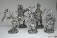 Tin Soldiers Set Indians 54 mm. 5 figures