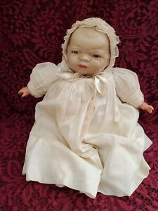 Antique Grace S. Putnam Bye-Lo Baby Working Blue Sleep Eyes Compo/Cloth Cute