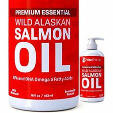 Salmon Oil For Pets Fish Oil Omega 3 Food Supplement Helps Dry Skin & Allergies