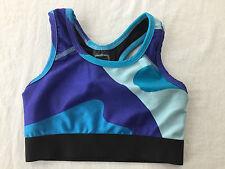 Zara Terez Performance Blue Camo Sports Bra Top Big Girls Size S NWT!
