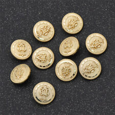 10 Pcs Crown Shank Metal Buttons for Coat Jeans Sewing Button DIY Craft 15/20mm