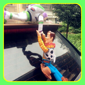Funny 3D Toy Story Sherif Woody And Buzz Car Doll Outside 2018 Car Hanging toy