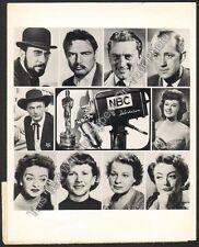 1953 Academy Awards Oscars Official NBC TV 7x9 Photo Radio Hollywood