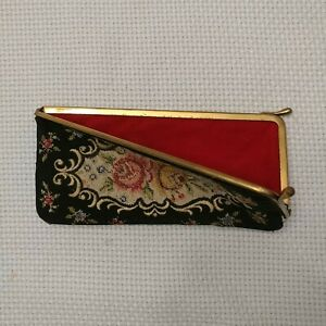 """Vintage Tapestry Floral Roses Spectacle Sunglass Eye Glass Soft Case 6"""""""