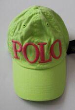 Ralph Lauren Girls' Polo Baseball Hat, (Lemon Crus, Size 4-6x)