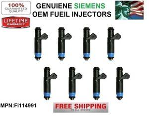 Set/8 80LB OEM SIEMENS Fuel Injectors for 2002-2005 BMW 745i 4.4L V8 *FI114991