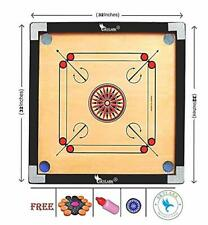 Large Carrom Board Game with Coins Striker and Boric Powder, 32 x 32 inch