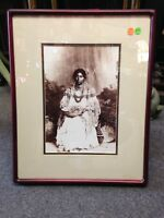 Vintage APACHE BRIDE Print Native American Squaw 1870