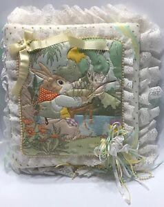 Hand-Made Handmade Baby Memory Book Country Scene Rabbit Fishing Creek Stream