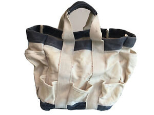Vintage Canvas Tote Multiple Pockets  Heavy Duty Pre Owned