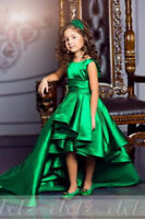 Elegeant Green Flower Girls' Pageant Dress Dance Ball Party Wedding Formal Gown