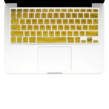 "UNIK CASE-Silicone Keyboard Cover for Macbook Pro 13"" 15"" 17""Unibody-Gold"