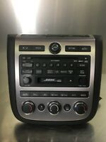 2006 - 2007 Nissan Murano Bose Cassette & 6Disc Cd Player Radio OEM