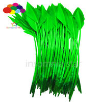 50 Pcs green arrow turkey feathers 25-30 CM /10-12 INCH for jewelry Diy Carnival