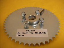 "GO CART SPROCKET AND HUB FOR 1"" AXLE ,48 TOOTH FOR #40,41 &420 CHAIN  WAO:8247H"